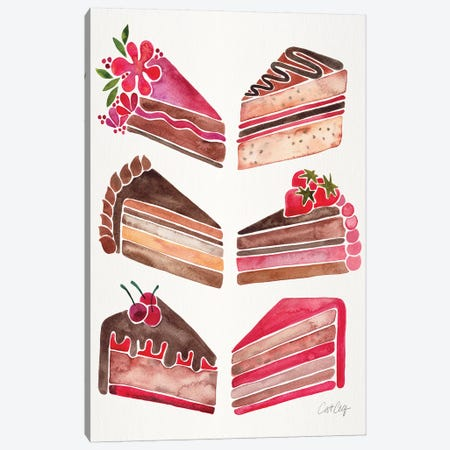 Cake Slices, Original Canvas Print #CCE288} by Cat Coquillette Art Print
