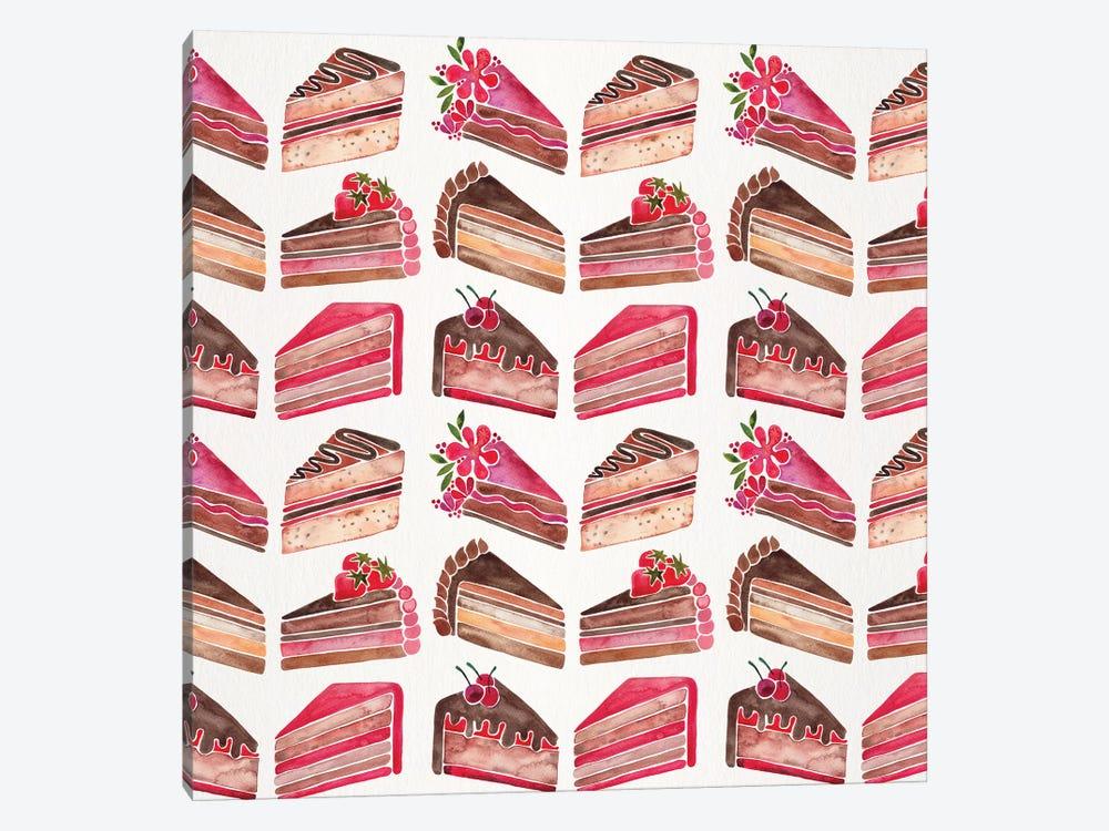 Cake Slices, Original Pattern by Cat Coquillette 1-piece Canvas Art