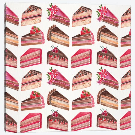 Cake Slices, Original Pattern Canvas Print #CCE289} by Cat Coquillette Art Print