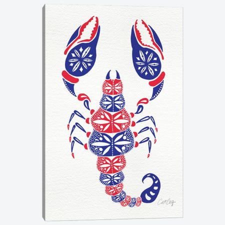 America Scorpion Artprint Canvas Print #CCE28} by Cat Coquillette Canvas Art