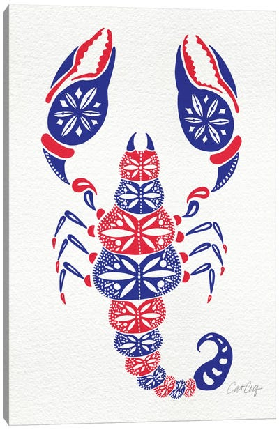 America Scorpion Artprint Canvas Art Print