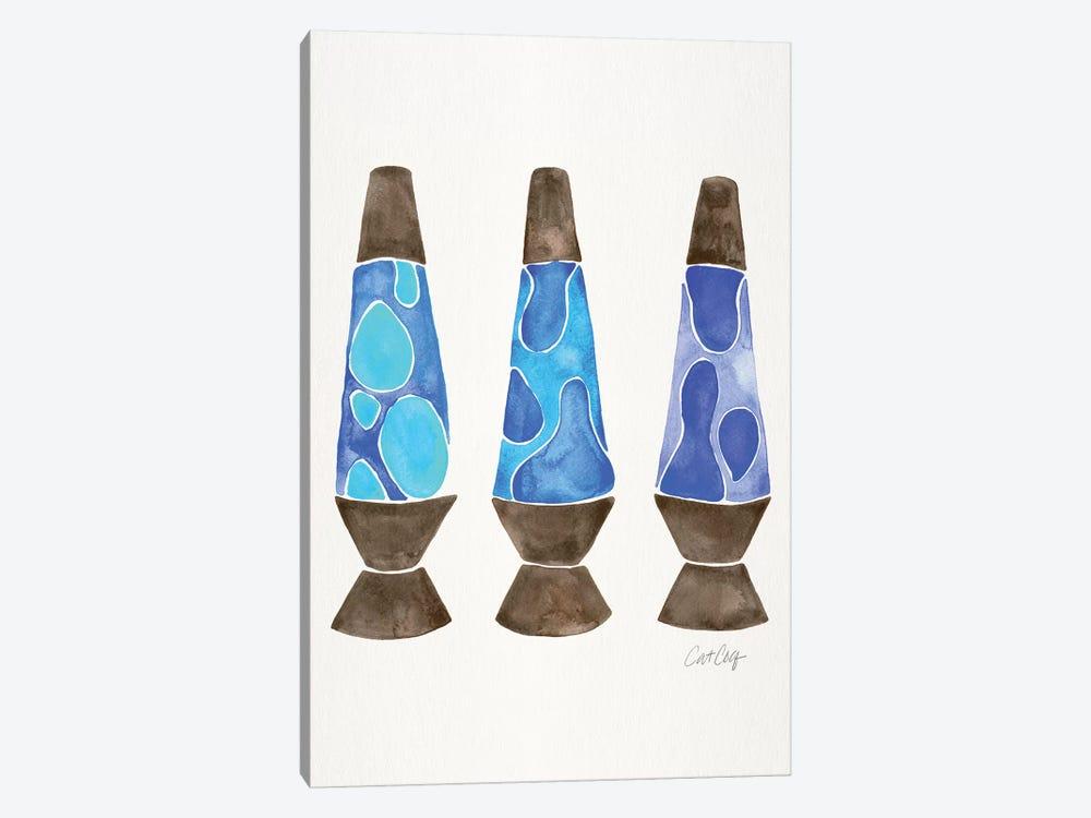 Lava Lamps, Blue by Cat Coquillette 1-piece Canvas Art