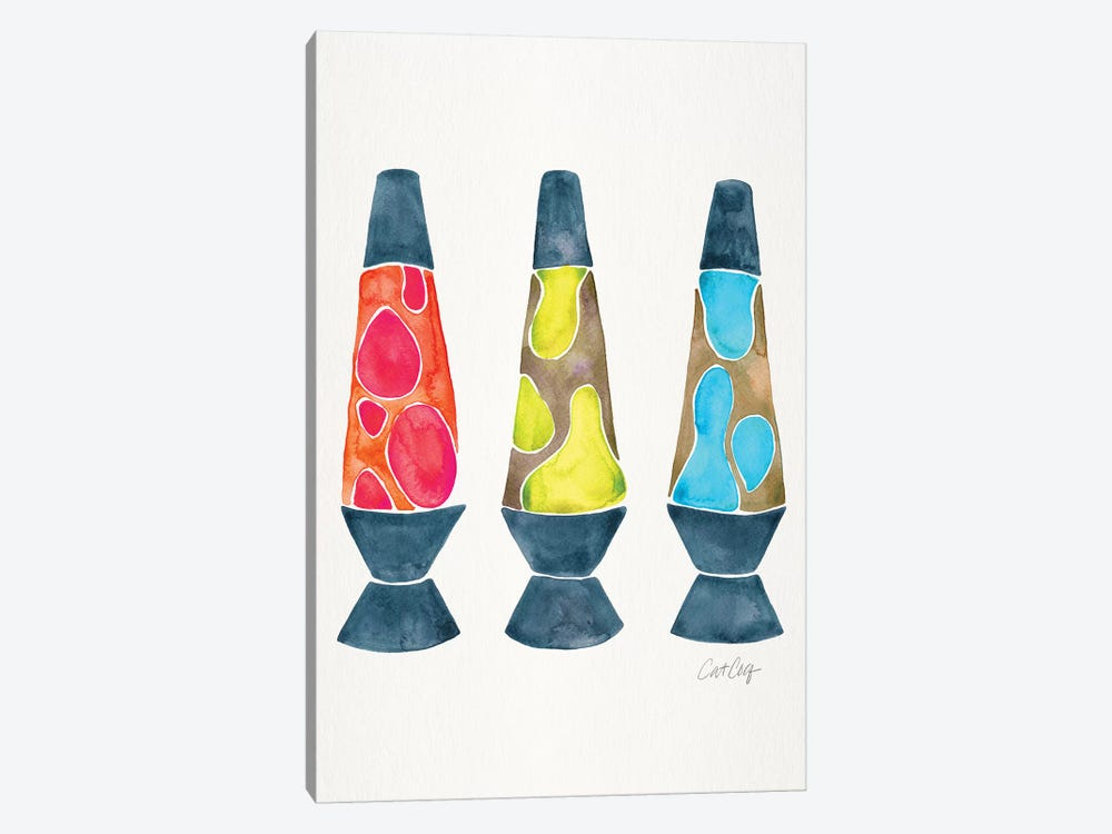 Lava Lamps, Primary by Cat Coquillette 1-piece Art Print