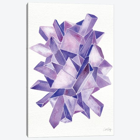 Amethyst Artprint Canvas Print #CCE29} by Cat Coquillette Canvas Artwork