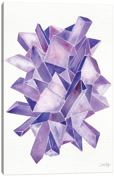 Amethyst Artprint Canvas Art Print