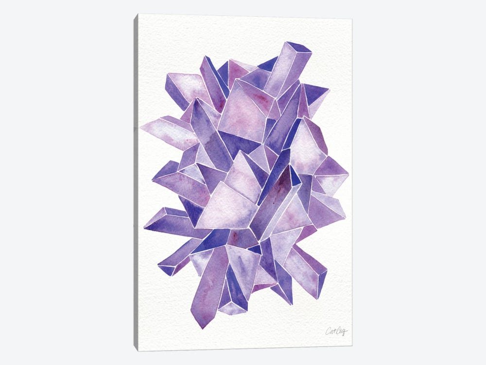 Amethyst Artprint by Cat Coquillette 1-piece Canvas Art