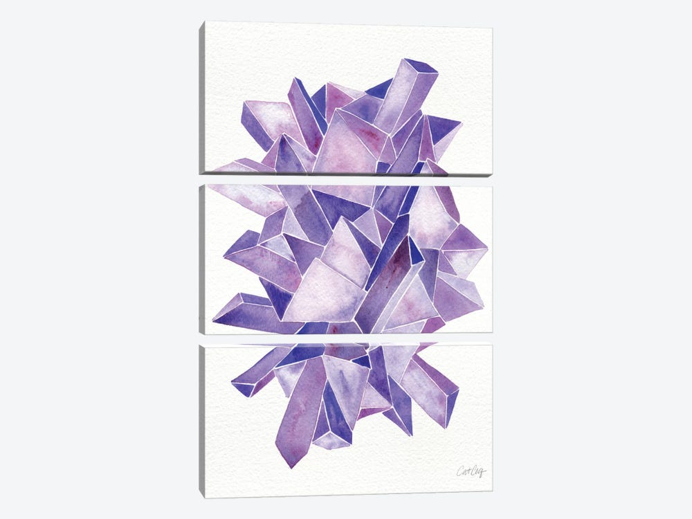 Amethyst Artprint by Cat Coquillette 3-piece Canvas Art