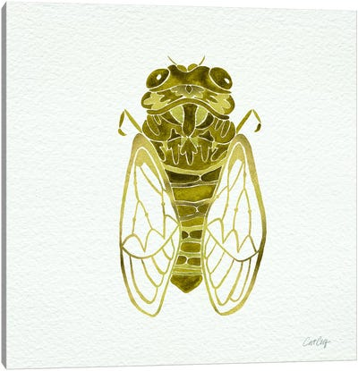 Cicada Gold  Artprint Canvas Print #CCE2