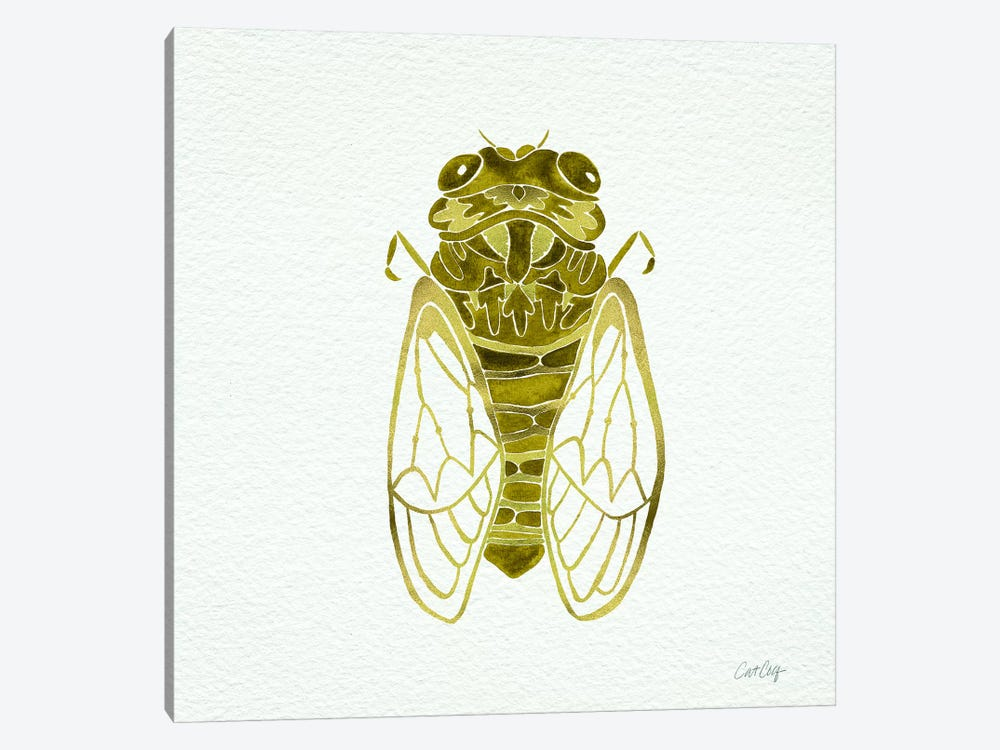 Cicada Gold  Artprint by Cat Coquillette 1-piece Canvas Artwork