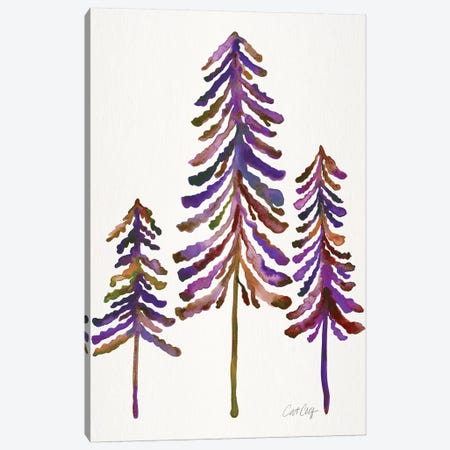 Pine Trees, Vintage Canvas Print #CCE300} by Cat Coquillette Canvas Artwork
