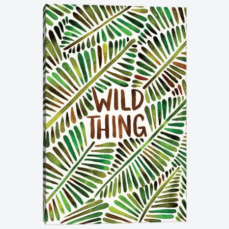 Wild Thing, Green Canvas Print #CCE304} by Cat Coquillette Canvas Print