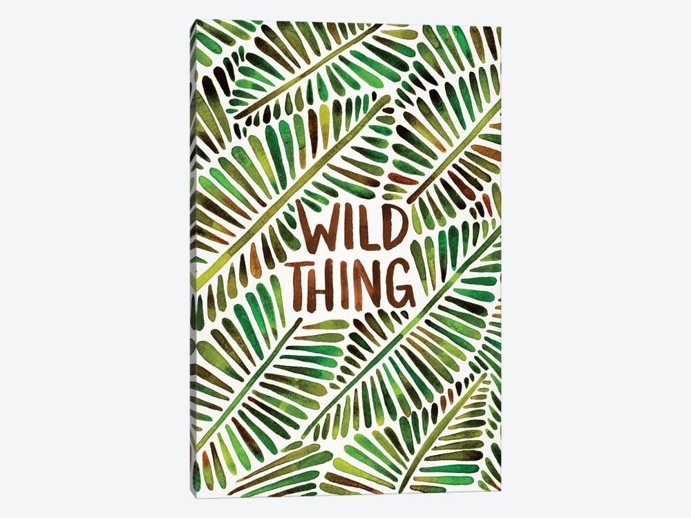 Wild Thing, Green by Cat Coquillette 1-piece Canvas Artwork