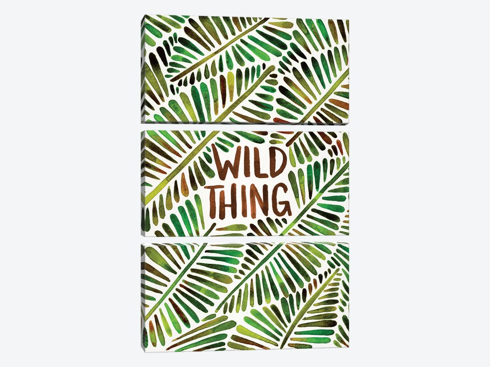 Wild Thing, Green by Cat Coquillette 3-piece Canvas Artwork