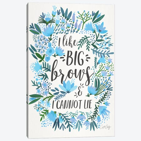 Big Brows II Canvas Print #CCE305} by Cat Coquillette Canvas Print