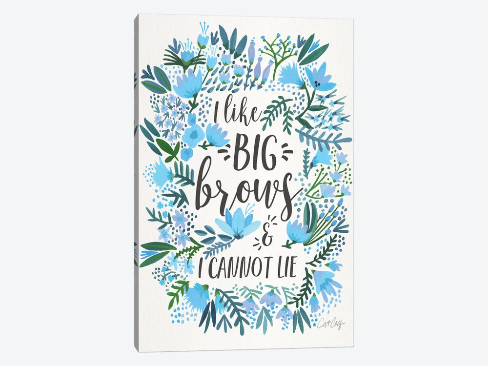 Big Brows II by Cat Coquillette 1-piece Canvas Art Print