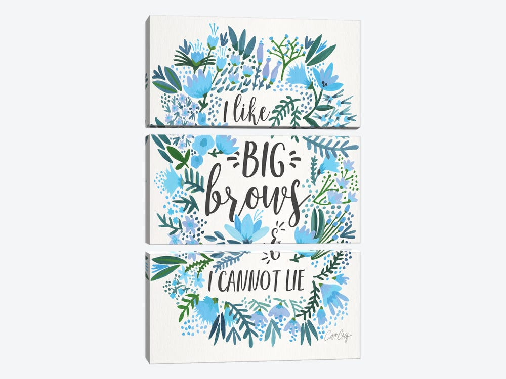 Big Brows II by Cat Coquillette 3-piece Art Print