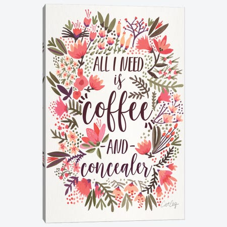 Coffee & Concealer III Canvas Print #CCE307} by Cat Coquillette Art Print