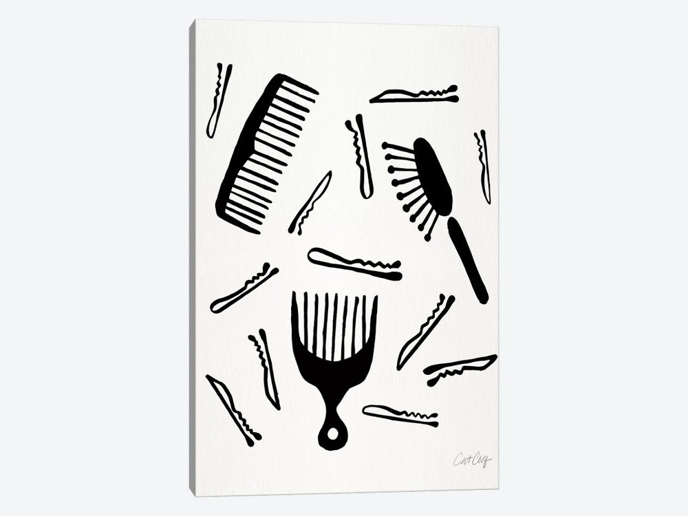 Good Hair Day, Black by Cat Coquillette 1-piece Canvas Art
