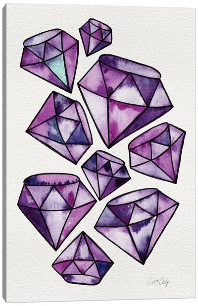Amethyst Tattoos Artprint Canvas Art Print
