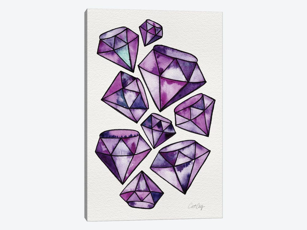 Amethyst Tattoos Artprint by Cat Coquillette 1-piece Canvas Wall Art