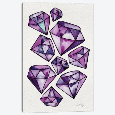Amethyst Tattoos Canvas Print #CCE30} by Cat Coquillette Canvas Art Print