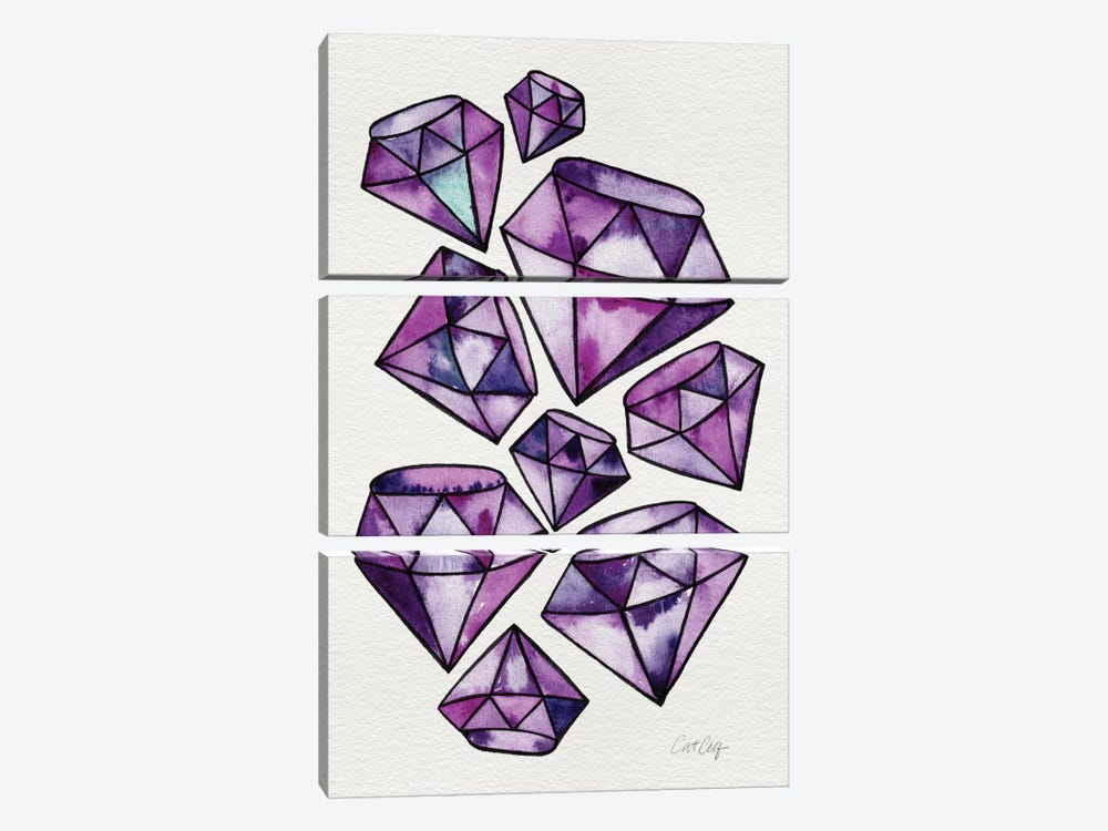 Amethyst Tattoos by Cat Coquillette 3-piece Canvas Art