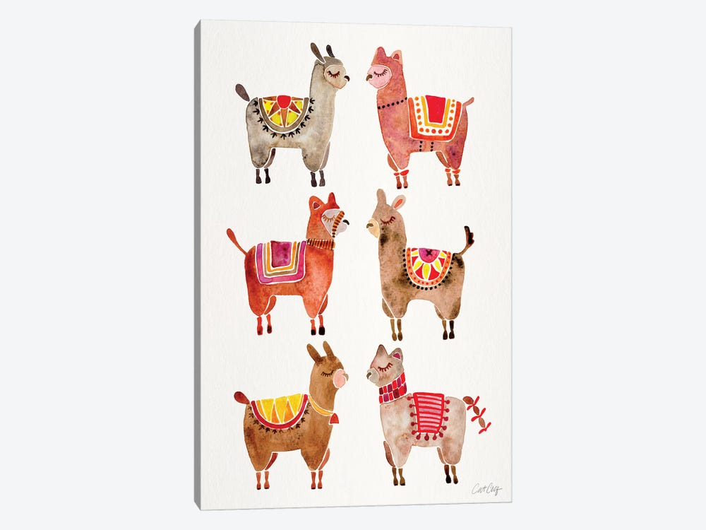Alpacas by Cat Coquillette 1-piece Canvas Print