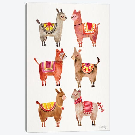 Alpacas Canvas Print #CCE318} by Cat Coquillette Canvas Art Print