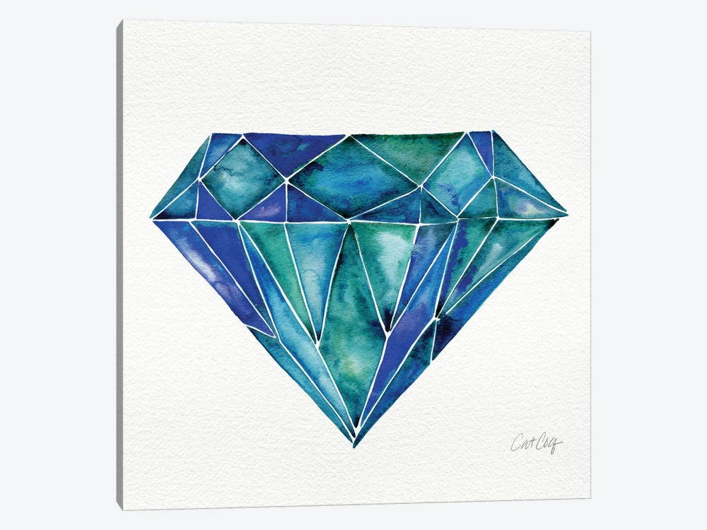 Aquamarine Artprint by Cat Coquillette 1-piece Canvas Print