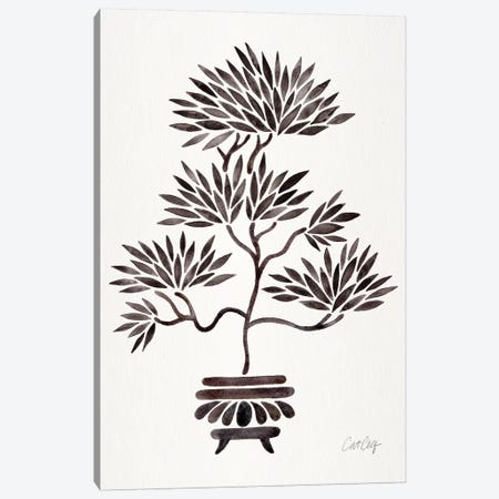 Black Bonsai Canvas Print #CCE320} by Cat Coquillette Canvas Wall Art