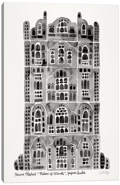 Black Hawa Mahal Canvas Art Print