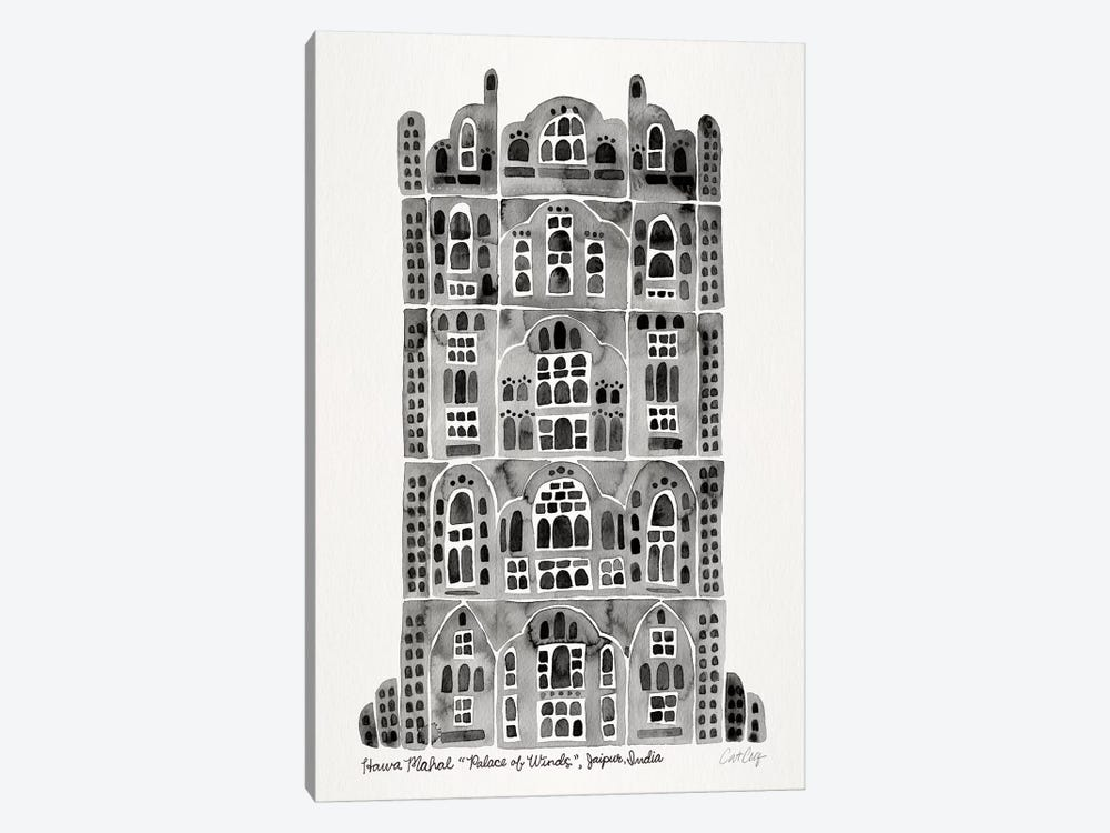 Black Hawa Mahal 1-piece Canvas Art