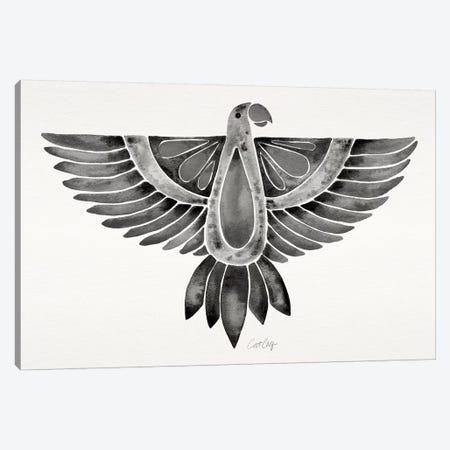 Black Parrot Canvas Print #CCE325} by Cat Coquillette Art Print