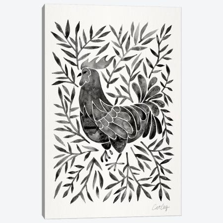 Black Rooster Canvas Print #CCE327} by Cat Coquillette Canvas Art Print