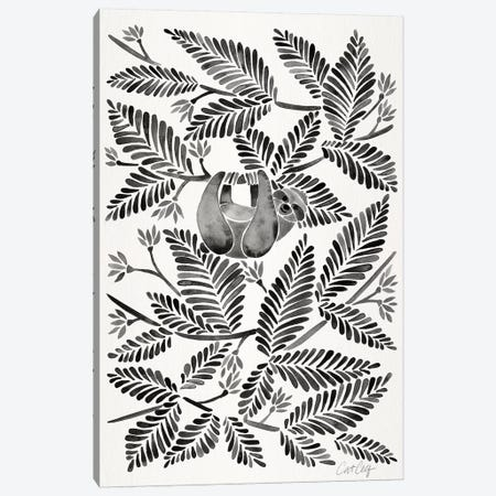 Black Sloth Canvas Print #CCE330} by Cat Coquillette Canvas Print