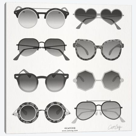 Black Sunglasses Canvas Print #CCE331} by Cat Coquillette Art Print
