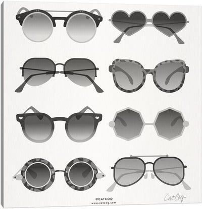 Black Sunglasses Canvas Art Print