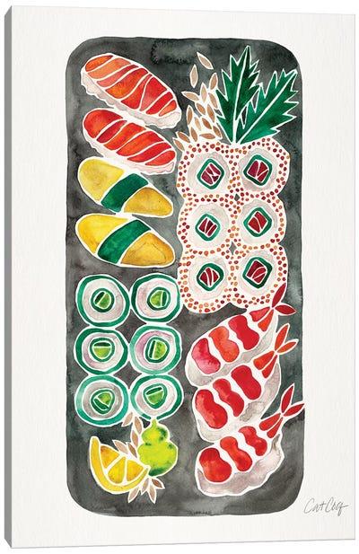 Black Sushi Canvas Art Print
