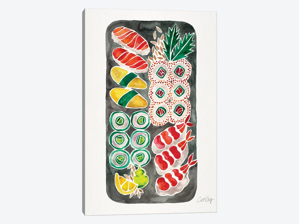 Black Sushi by Cat Coquillette 1-piece Art Print