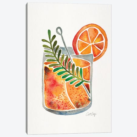 Blood Orange Tequila Sunrise Canvas Print #CCE334} by Cat Coquillette Canvas Wall Art