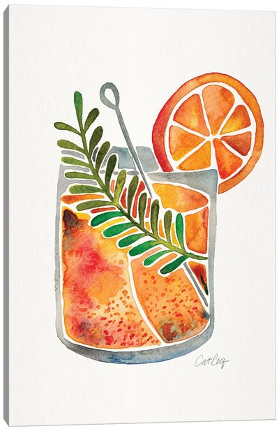 Blood Orange Tequila Sunrise Canvas Art Print