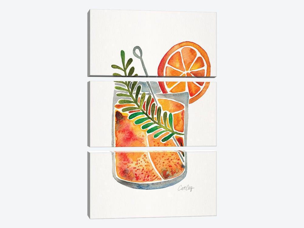 Blood Orange Tequila Sunrise by Cat Coquillette 3-piece Canvas Art Print