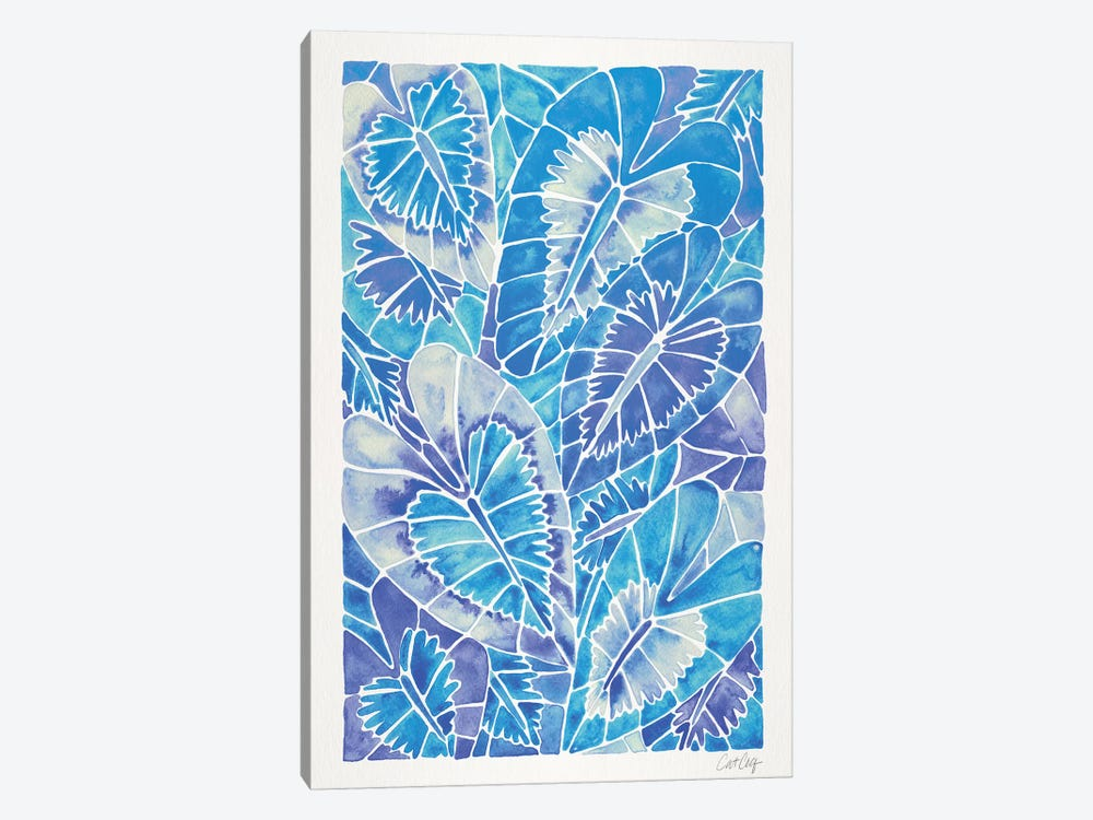 Blue Schismatoglottis Calyptrata by Cat Coquillette 1-piece Canvas Print