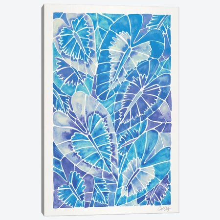 Blue Schismatoglottis Calyptrata 3-Piece Canvas #CCE345} by Cat Coquillette Canvas Print