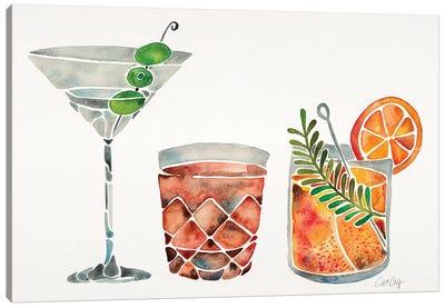 Classic Cocktails Canvas Art Print