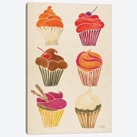 Cupcakes Canvas Print #CCE357} by Cat Coquillette Canvas Wall Art