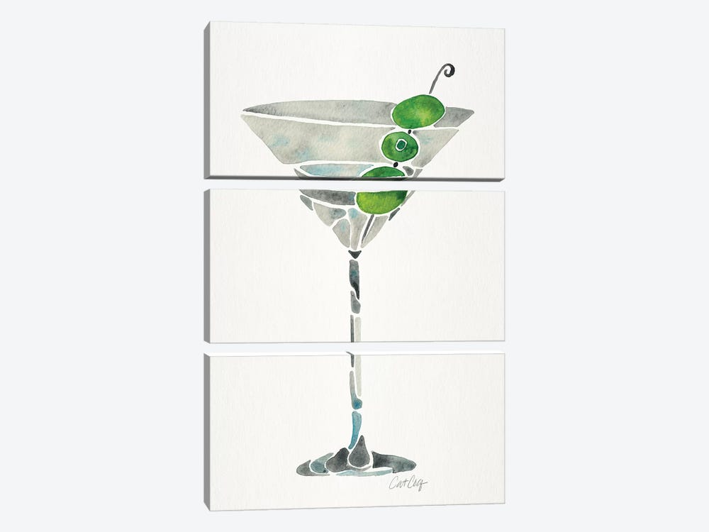Dirty Martini by Cat Coquillette 3-piece Canvas Art Print