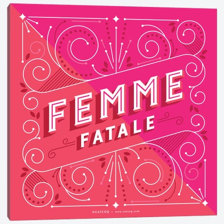Femme Fatale Canvas Print #CCE359} by Cat Coquillette Canvas Art Print