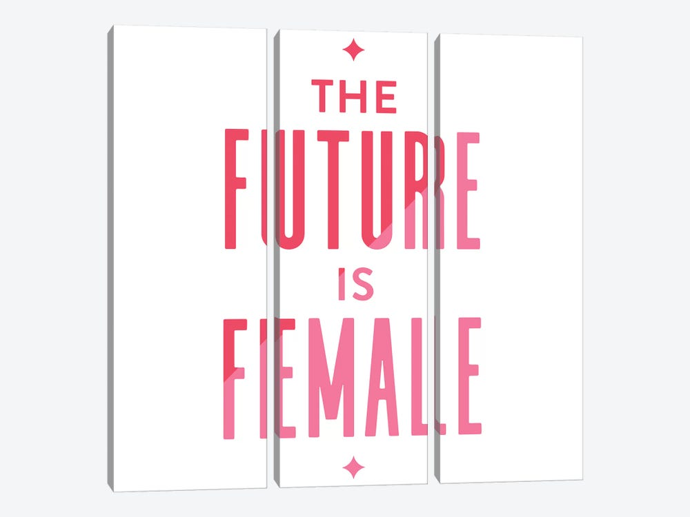 Future Female Apparel II by Cat Coquillette 3-piece Canvas Artwork