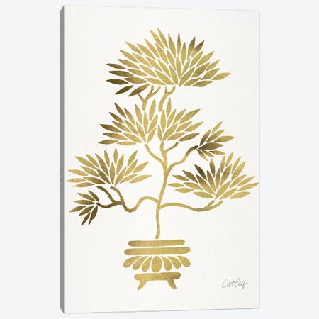 Gold Bonsai Canvas Print #CCE366} by Cat Coquillette Canvas Art Print